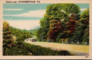 Pennsylvania Scene Near Curwensville