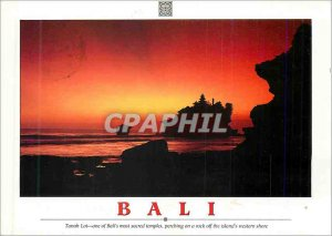 Postcard Modern Bali Tanah Lot One of Ball's Most Sacred Temples Perching on ...
