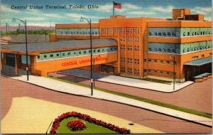 Ohio OH Central Union Terminal Toledo Postcard Old Vintage Card View Standard PC