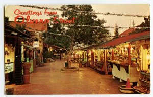 Postcard Olvera Street Los Angeles Calif. Old Mexico Standard View Card