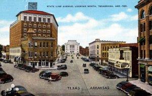 Arkansas - Texas Texarkana State Line Avenue Looking North