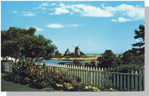 Unique Windmill & House Postcard, Cape Cod, Mass/MA