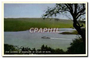 Old Postcard The Duchess Of Kyles Of Bute At Montrose