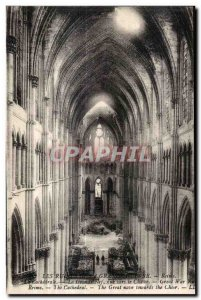 Old Postcard Reims Cathedral