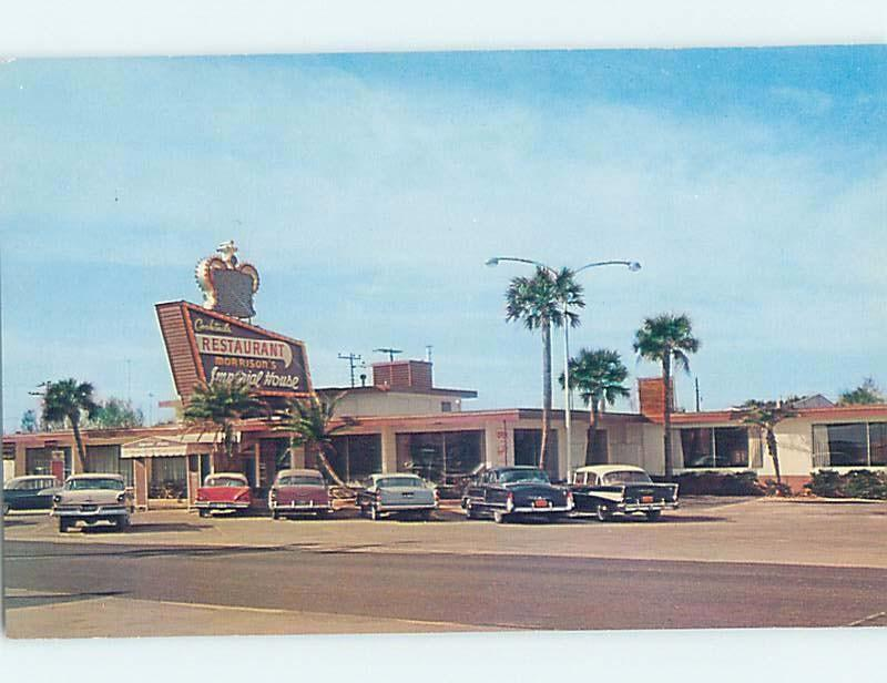 Unused 1950's OLD CARS AT IMPERIAL HOUSE RESTAURANT Daytona Beach FL B8832-13