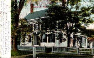 Maine Bridgton Harriet Beecher Stowe's House Where Uncle Tom's Cabi...