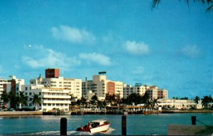 Florida Miami Beach Hotels Seen Across Indian Creek