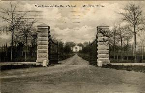 GA - Mt Berry. The Berry School, Main Entrance
