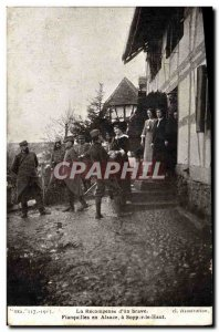 Old Postcard The Recompense of A Brave Engagement in Alsace Sopper High
