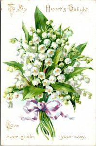TO MY HEART'S DELIGHT.. 1900-20S GREETING CARD - TUCK - VINTAGE POSTCARD
