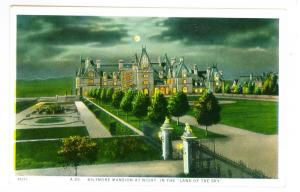Biltmore Mansion at Night, In the Land of the Sky unused