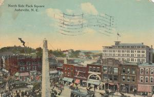 ASHEVILLE , North Carolina ,1914 ; North Side Pack Square