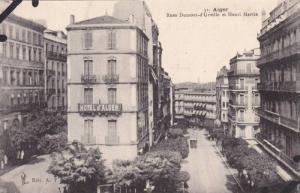 Rues Dumont- d'Urville Et Henri Martin, Hotel d'Alger, Alger, Algeria, Africa...