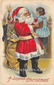 Santa Claus Postcard Old Vintage Christmas Post Card 1932 Missing Stamp