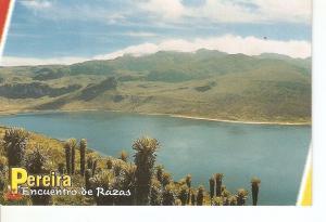 Postal 027951 : Pereira, Encuentro de Razas (Colombia). Laguna de Otun