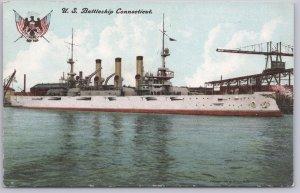 USS Connecticut (BB-18), WWI Battleship -