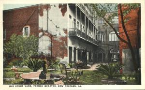 French Quarter - Old Court Yard - New Orleans LA, Louisiana - WB