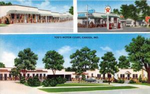 4553  MO Cabool   Tod´s Motor Court Motel ,  Texaco Gas Station