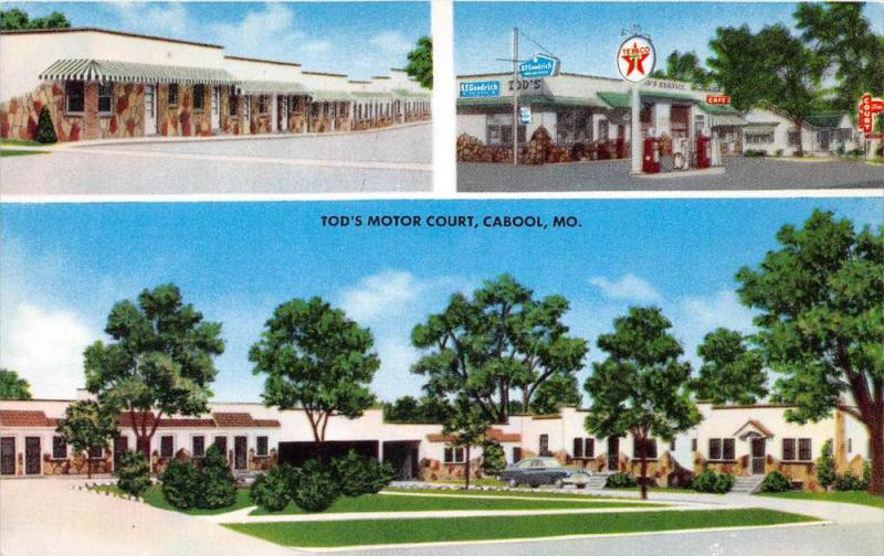 4553  MO Cabool   Tod´s Motor Court Motel ,  Texaco Gas Station