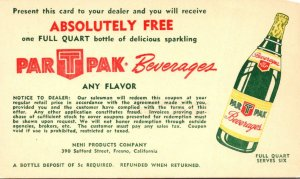 Advertising Par T Pak Beverages Nehi Products Fresno California