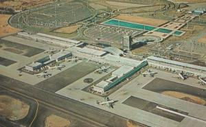 John F Kennedy Airport Aerial Birds Eye 1960s Postcard