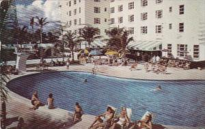 Florida Miami Beach The Coronado Hotel Pool Cabana Club 1953