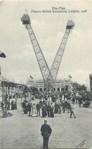 Postcard exhibitions Flip Flap Franco British exhibition London 1908