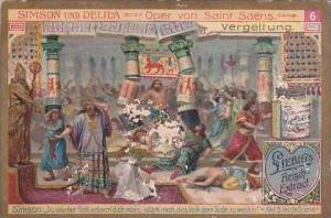 Liebig Vintage Trade Card S858 Samson &  Delilah No 6 Vergeltung