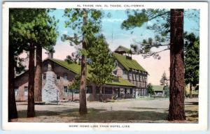 AL TAHOE, LAKE TAHOE California  CA    AL TAHOE INN  ca 1920s    Postcard