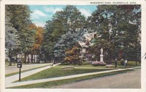 Ohio Painesville Monument Park 1938