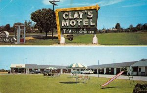 Glasgow Delaware Clay's Motel Vintage Postcard AA36831
