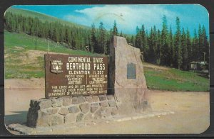 Colorado - Summit Of Berthoud Pass - Continental Divide - [CO-007]
