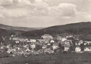 Lazne Luhacovice - View of Spa  B&W Photo Card