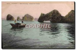 Old Postcard Indochina Tonkin Bay & # 39Along Switches from & # 39arche