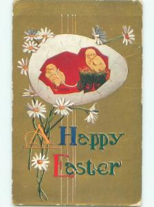 Divided-Back EASTER CHICK SCENE Cute Postcard AA0937