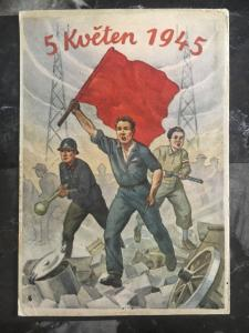 Mint Liberation of Czechoslovakia 1945 Postcard Freedom Fighters Red Flag Ruin