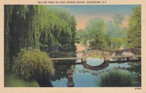 Willow Pond off East Avenue - Rochester, New York - pm 1942 - Linen