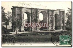 Old Postcard Reims Mars Gate