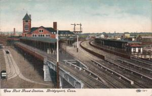 Connecticut Bridgeport New Rail Road Station 1909