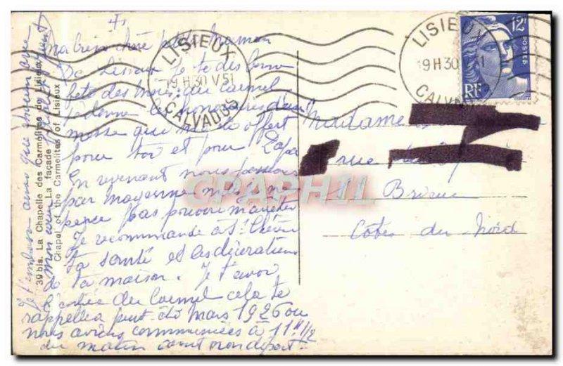 Old Postcard Lisieux Carmelite Chapel