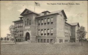 Hobart OK Eugene Field School c1910 Postcard
