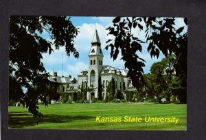 KS Kansas State Univ University Manhattan Anderson Hall K State Postcard