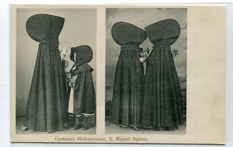 Azores Costumes Michaelenses Women Sao Miguel Portugal postcard