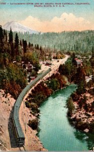 California Mount Shasta & Sacramento River From Castella On Shasta Route Sout...