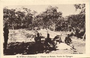 CPA Dahomey Afrique - Chasse au Bubala (86862)