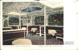 Kaiser Wilhelm II, Winener Caf? Ship Ships, Interiors, Postcard Postcards  Ka...
