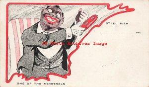 317447-Black Americana, Steel Pier, Atlantic City, NJ, Minstrels with Tambourine