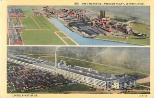 Linen Card of The Ford Motor Co Fordson Plant Detroit MI
