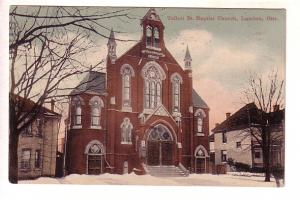 Talbot St Baptist Church, London, Ontario, Winter Snow