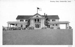 Centerville Iowa~Country Club~Greek Style Columns @ Doorway~US Flag~1920s PC